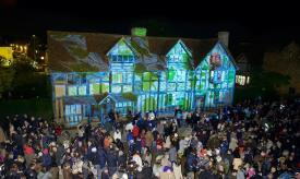 New lightshow at the Bard's birthplace