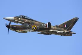 Battle of Britain anniversary display by fighter duo