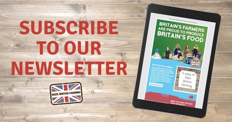 Sign up to be a Back British Farming supporter