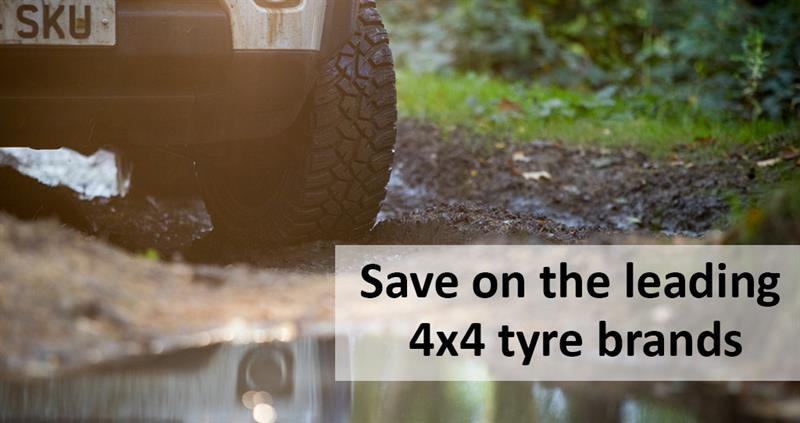 Save up to 10% on 4x4 Tyres
